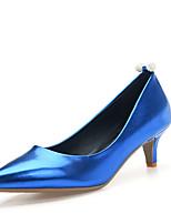 Mujer-Tacón Kitten-Tacones / Confort / Puntiagudos-Tacones-Oficina y Trabajo / Casual-Vellón-Azul / Rosa / Plata