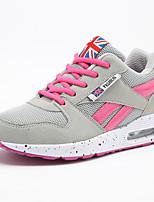 Da donna-Sneakers-Tempo libero / Ufficio e lavoro / Casual-Punta arrotondata / Ballerine-Piatto-Tulle-Nero / Rosa