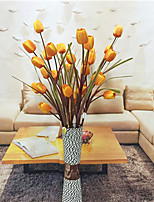 Hi-Q 1Pc Decorative Flowers Real For Wedding Home Table Decoration Tulips Artificial Flowers