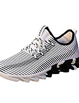 Men's Sneakers Spring / Fall Round Toe PU Athletic / Casual Flat Heel Others / Lace-up Black / Black and White / Orange