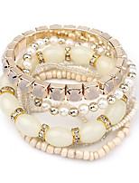 Wrap Bracelets 1pc,Fashionable Round Black / White / Blue / Orange / Green Alloy Jewelry Gifts
