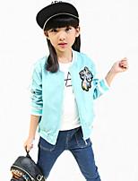 Completo e giacca / Giubbino e cappotto Girl Casual Con ricami Poliestere Per tutte le stagioni / Primavera / Autunno Blu / Rosa / Rosso