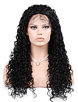 EVAWIGS 10-28 Inch Deep Curly Wave Wigs 100% Human Hair Lace Front Wigs Natural Black Color 130% Density