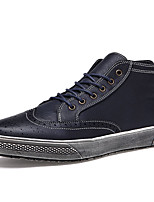 Men's Sneakers Spring / Fall Comfort / Round Toe PU Casual Flat Heel  Black / Blue / Red Walking / Others