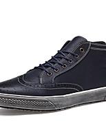 Черный / Синий / Красный-Мужской-На каждый день-Полиуретан-На плоской подошве-Удобная обувь / С круглым носком-Кеды