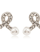 Earring Geometric Jewelry Women Fashion Wedding / Party / Daily / Casual / Sports Alloy / Imitation Pearl / Rhinestone 1 pair Silver