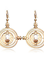 Earring Round Drop Earrings Jewelry Women Fashion Daily / Casual Alloy 1 pair Gold / Silver