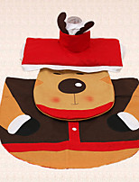 3pcs Christmas Deer Toilet Decoration Seat Cover Tank Cover and Rug Bathroom Indoor Home Gift