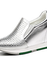 Women's Sneakers Fall Comfort Leatherette Office & Career / Dress / Casual Sequin Black / Silver Others