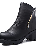 Women's Dance Shoes Boots Breathable Cuban Heel Black/Red/Brown