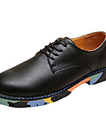Men's Flats Spring Flats Cowhide Casual Flat Heel Slip-on Black / Brown / White Others