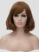 Golden brown wig, Europe and the United States hot fashion new, fluffy short curly blonde wig.