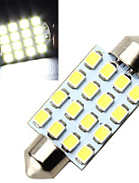 10pcs 16SMD 3528 36MM LED Festoon light LED Festoon Interior Dome Light Lamp Bulb For Car(DC12V)