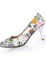 Women's Heels Spring / Summer Heels PU Casual Stiletto Heel Flower White Others