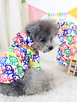 Dog Hoodie Multicolored Winter Color Block Keep Warm / Fashion, Dog Clothes / Dog Clothing