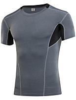 Men Compression Shirt Base Layer Running shirt Short Sleeve High Quality Fitness Tops Bodybuilding GYM Clothing T-shirt