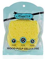 Keqi ®  Natural Wood Pulp Fiber Face and Bath Sponge 2 Piece Random Color