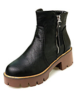 Women's Boots Fall / Winter Platform Leatherette Outdoor / Office & Career / Athletic / Brown / Khaki