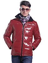 Lesmart Herren Ständer Lange Ärmel Jacken Rot-MDME10420