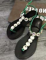 Women's Sandals Summer Sandals / Open Toe PU Casual Flat Heel Others Green / Purple Others