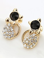 Earring Circle Stud Earrings Jewelry Women Fashion Daily / Casual Alloy 1pc Gold / Silver