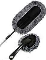 Gray Two-Piece Wax Brush Wax Trailers Car Cleaning Kit Duster Telescopic Car Wash Nanowires