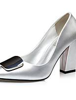 Women's Heels Summer Heels Patent Leather Office & Career / Casual Chunky Heel Bowknot Black / Silver Others