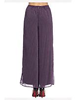 Heart Soul® Women's Mid Rise Wide Leg Purple Casual Pants-12AA33641
