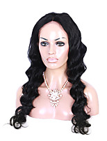 16-26 Inch Indian Virgin Human Hair Jet Black Color U Part Front Lace Wig Body Wave Lace Wig With Baby Hair