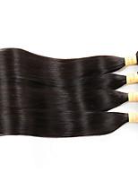 4 Bundles 7A Grade Malaysian Virgin Hair Straight Human Hair Weaves Hair Products Malaysian Straight Hair Natural Black