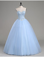 Formal Evening / Quinceanera Dress A-line Strapless Floor-length Tulle with Beading