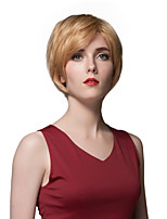 Elegant Layered Short Straight Human Hair Capless Wigs