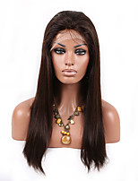 16-26 Inch 10A natural straight Brazilian virgin hair full lace silk straight human hair wig for fashion women