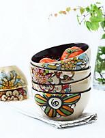caractéristiques de céramique nouilles salade de personnalité peints à la main dans un bol de soupe (style aléatoire)