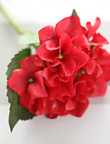 1PC Household Artificial Flowers Sitting Room Adornment  Flowers  Polyester Hydrangea  Artificial Flowers