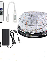 KWB 16.4Ft 5050 RGB 300 LEDs Color Changing LED Strip Light With RF Wireless Remote Control and 12V 5A Power Supply