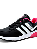 Women's Sneakers Fall / Winter Round Toe PU Outdoor / Athletic Flat Heel Others / Lace-up Black /