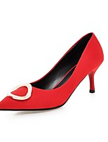 Women's Heels Summer / Fall Heels / Pointed Toe Fleece Office & Career / Casual Cone Heel Others Black / Red Others