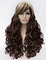 Cosplay wig, wind Lolita Lolita multi color gradient wig, daily wig wig