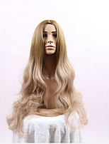 Blonde Color Long Wave Women Wigs for Black Women Heat Resisting Wigs