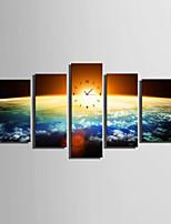 Moderne/Contemporain Autres Horloge murale,Rectangulaire Toile