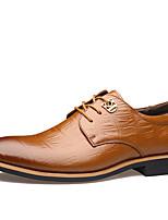 גברים-נעלי ספורט-עור-נוחות סוליות מוארות-שחור צהוב-משרד ועבודה יומיומי מסיבה וערב-עקב שטוח