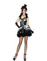 Costumes Vampires Halloween Gray & Black Solid Terylene Skirt / Gloves / Necklace / Hat