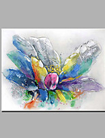 Single Modern Abstract Pure Hand Draw Ready To Hang Decorative Abstract Flowers Oil Painting