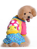 Dog Coat Blue / Rose Winter / Spring/Fall Polka Dots / Animal Casual/Daily Dog Clothes / Dog Clothing-Other
