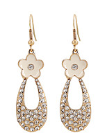 Lureme®Fine Jewelry Europe Fashion Charms Rhinestone Flowers Zinc Alloy Earrings