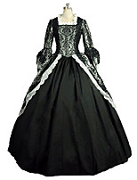 Steampunk®Georgian Renaissance Colonial Floral Masquerade Vampire Brocade Lace Dress Gown Theatrical Halloween Costume