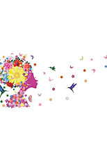 50*70CM Flowers Fairy Butterfly Wall Decals Home
