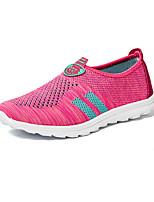 Mujer-Tacón Plano-Confort-Zapatillas de deporte-Casual-Tul-Rojo / Melocotón / Azul Real