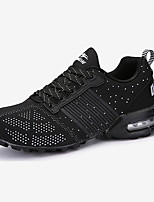 Men's Sneakers Fall Round Toe Tulle Athletic Flat Heel Others / Lace-up Blue / Black and Red / Black and White Sneaker